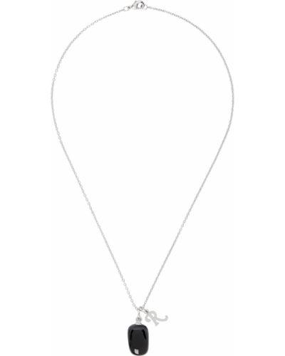 Czarny naszyjnik łańcuch srebrny Raf Simons