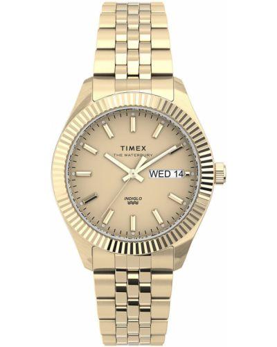 Złoty zegarek kwarcowy Timex
