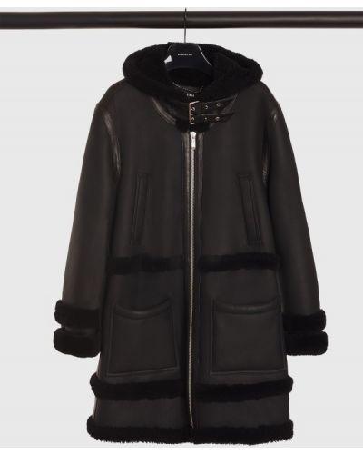 Пальто из овчины - черное Barbara Bui