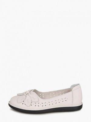 Бежевые кожаные туфли Kari