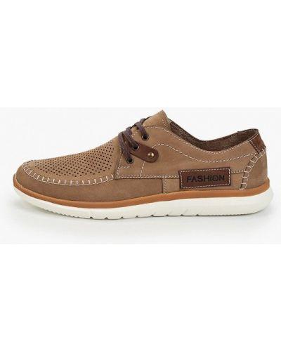 Коричневые ботинки из нубука Der Spur