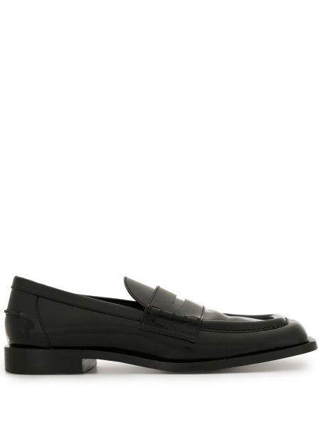 Skórzany czarny loafers plac kwadratowy Proenza Schouler
