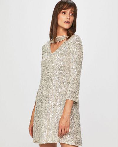 Джинсовое платье с пайетками прямое Trussardi Jeans
