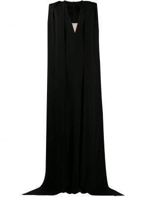 Czarna sukienka mini krótki rękaw z dekoltem w serek Alex Perry
