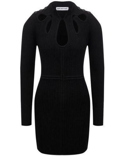 Шерстяное платье - черное Self-portrait