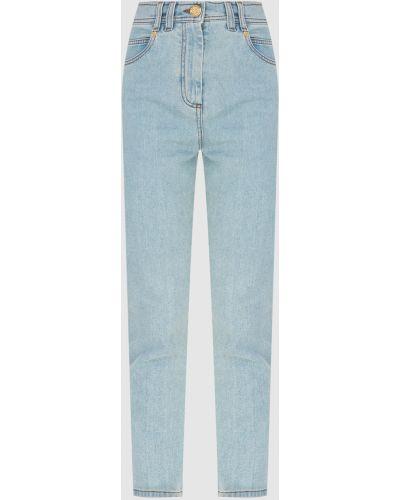 Голубые джинсы Balmain