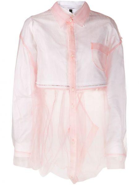 Рубашка прозрачная - розовая Facetasm