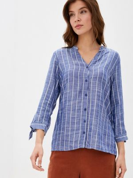 Блузка с длинным рукавом синяя весенний Defacto