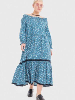 Голубое повседневное платье Lessismore