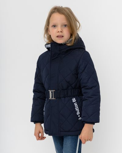 Стеганая синяя модная куртка Button Blue