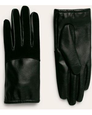 Кожаные перчатки замшевые черные Medicine