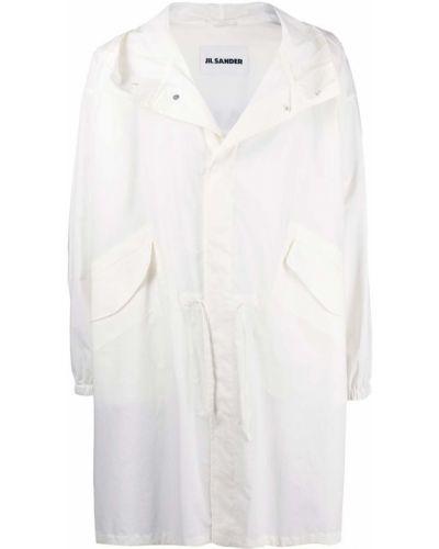 Płaszcz przeciwdeszczowy - biały Jil Sander