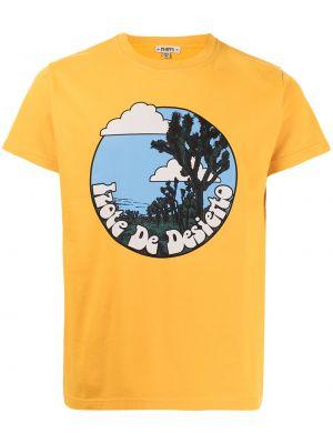Prążkowany pomarańczowy t-shirt bawełniany Phipps