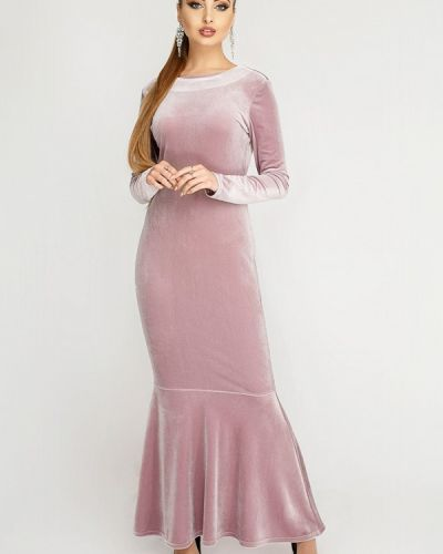 Вечернее платье осеннее розовое Leo Pride