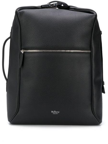 Czarny plecak skórzany miejski Mulberry