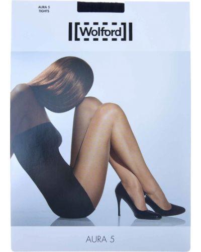 Колготки прозрачные - черные Wolford