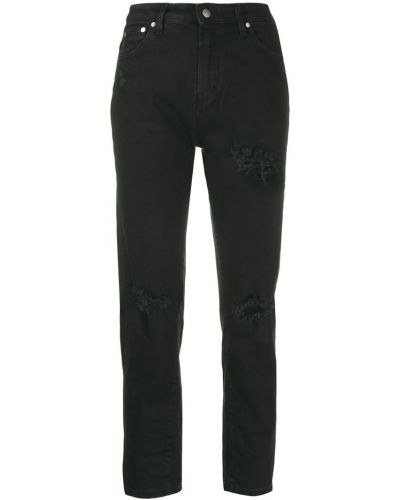 Черные джинсы бойфренды на пуговицах с поясом с открытой спиной Represent