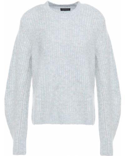 Niebieski sweter wełniany w paski Rag & Bone