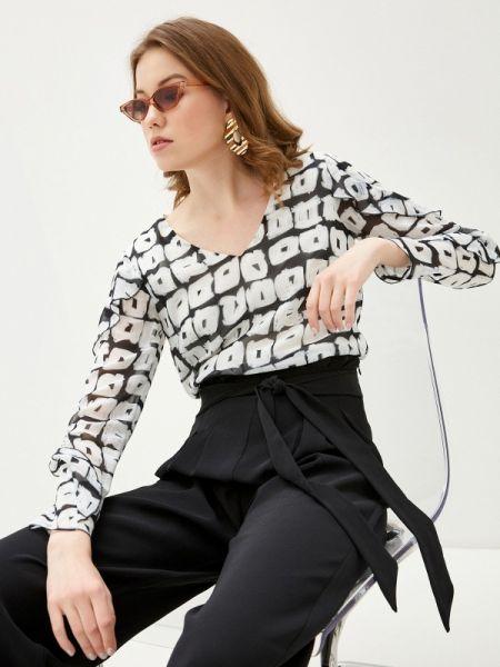 Черная блузка с оборками Sa.l.ko