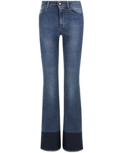 Расклешенные джинсы с эффектом потертости с бахромой Redvalentino