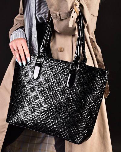 Кожаная сумка на молнии с карманами Rozetka