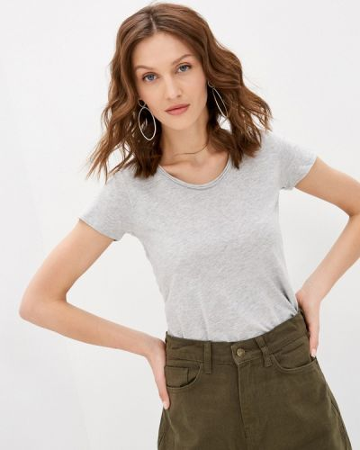 Серая футболка с короткими рукавами Zabaione