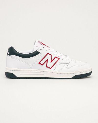 Białe sneakersy skorzane sznurowane New Balance