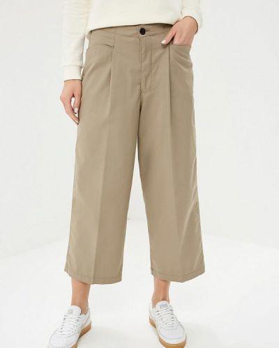 Бежевые брюки повседневные Lee