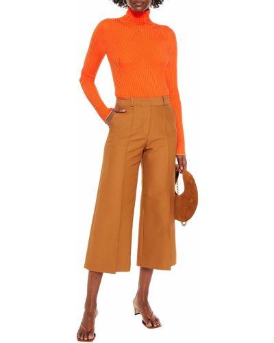 Ażurowy pomarańczowy sweter wełniany Victoria Beckham