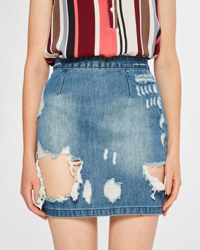 Юбка мини джинсовая с завышенной талией Missguided