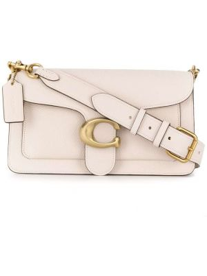 Кожаная сумка - белая Coach
