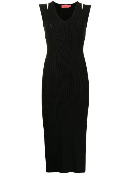 Платье в рубчик - черное Manning Cartell