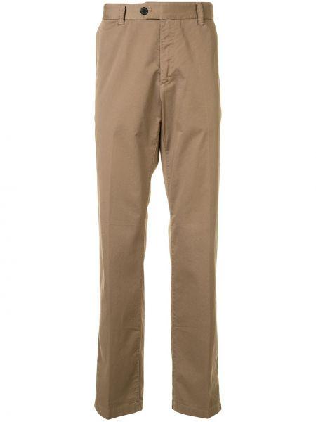 Brązowe spodnie bawełniane z paskiem Gieves & Hawkes