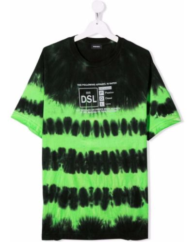 T-shirt z printem - czarna Diesel Kids