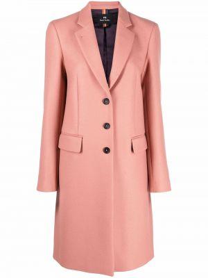Розовое пальто длинное Ps Paul Smith
