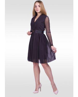 Платье с поясом из фатина на молнии Lilacollection