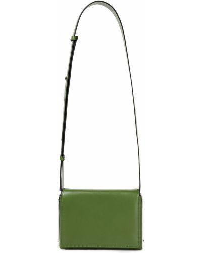Кожаная косметичка - зеленая Serapian