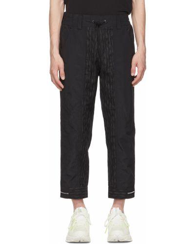 Białe spodnie z paskiem bawełniane Blackmerle