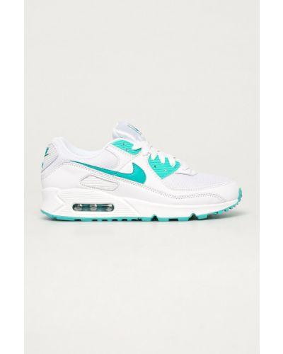 Białe sneakersy skorzane sznurowane Nike Sportswear
