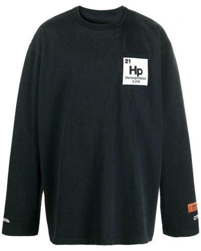 Czarny sweter oversize z długimi rękawami Heron Preston