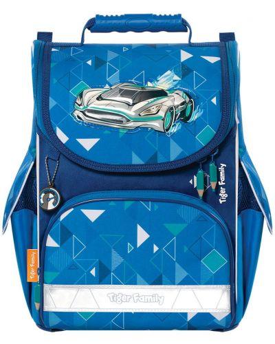 Водонепроницаемый школьный синий ранец из плотной ткани Tiger