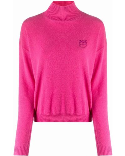 Джемпер с вышивкой - розовый Pinko