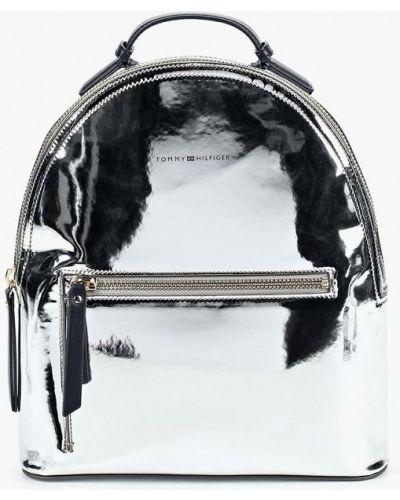 Рюкзак лаковый серебряный Tommy Hilfiger