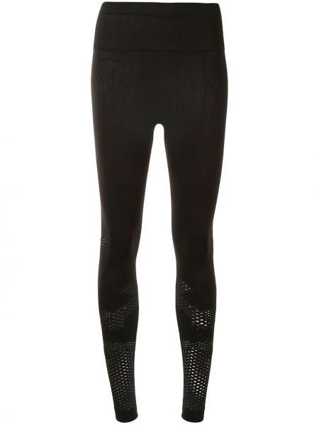 Нейлоновые черные спортивные брюки с поясом Alala
