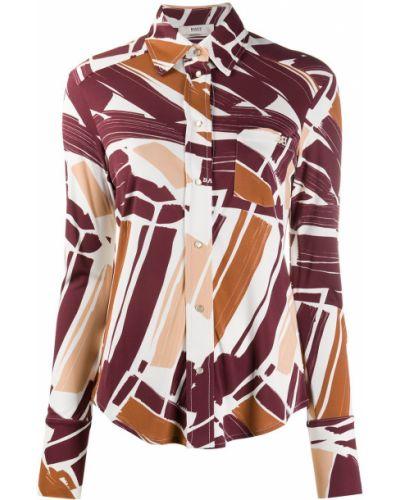 Розовая шелковая классическая рубашка с воротником Bally
