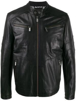 Długa kurtka pikowana skórzana Karl Lagerfeld
