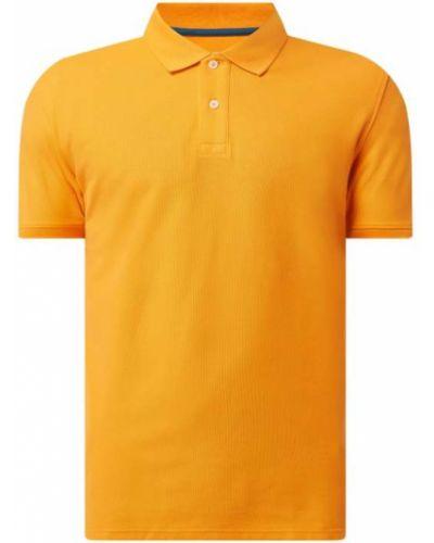 Pomarańczowy t-shirt bawełniany Montego