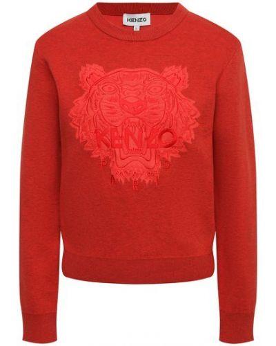 Шерстяной пуловер - красный Kenzo