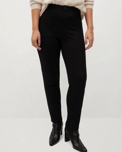 Черные зауженные брюки Violeta By Mango