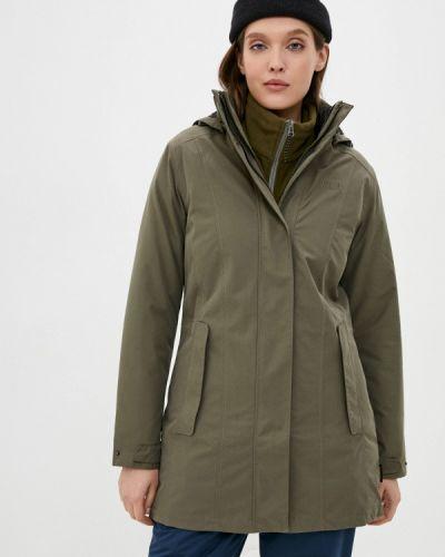 Теплая зеленая утепленная куртка Jack Wolfskin
